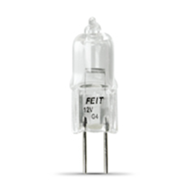 NTE Electronics 08-007 10 WATT HALOGEN 12V BULB JC WITH G4 BASE CLEAR T3 BULB