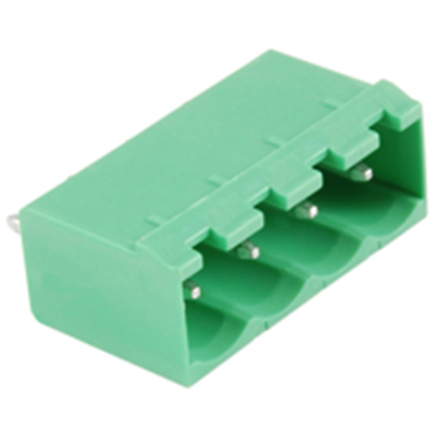 NTE Electronics 25-E1300-04 Terminal Block 4 Pole 5.08mm Pitch 300V 15A PC Mount