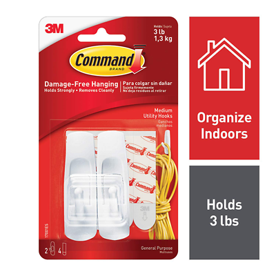 Command™ Medium Utility Hooks, 17001ES