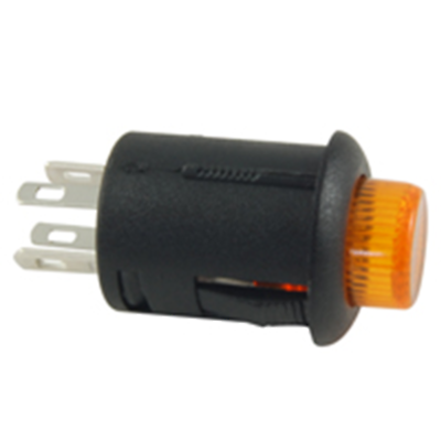 NTE Electronics 54-701-A SWITCH PUSH BUTTON SPST 3A 125VAC OFF-ON AMBER ACTUATOR