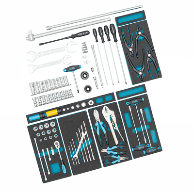 Hazet 0-2500-163/86 Supplementary Tool Assortment for AUDI, 86 pieces