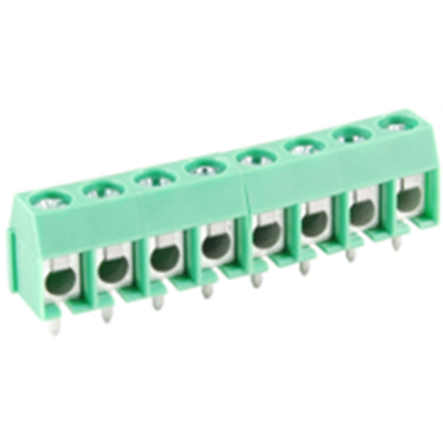 NTE Electronics 25-E400-08 Terminal Block 8 Pole 5.00mm Pitch 300V 16A PC Mount