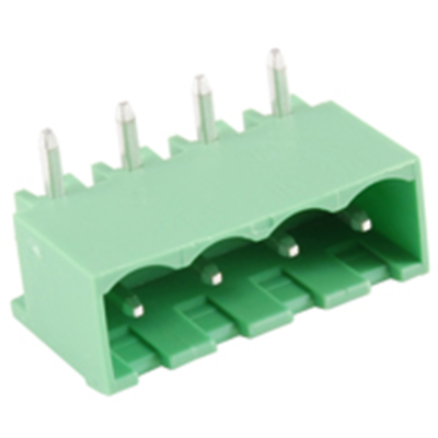 NTE Electronics 25-E1400-04 Terminal Block 4 Pole 5.08mm Pitch 300V 15A PC Mount