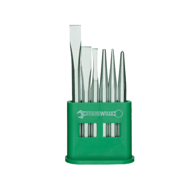 Stahlwille 98812201 102-5/6 D-Chisel, Pin, and Punch Set and Plastic Stand