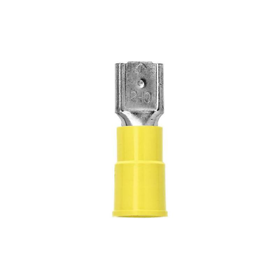 3M™ Highland™ Vinyl Insulated Female Disconnect Terminal FDV10-250Q, AWG 12-10
