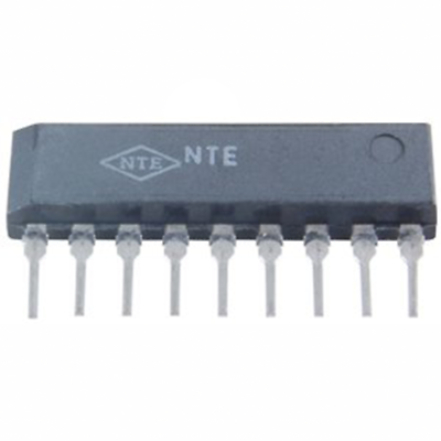 NTE Electronics NTE1618 INTEGRATED CIRCUIT TV VIDEO IF AMP/AGC 9-LEAD SIP