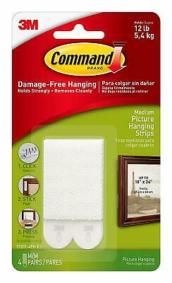 Command Medium Picture Hanging Strips 17204ES, 6 Pairs