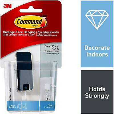 Command Clear Smart Phone Station with Clear Strips HOM17CLR-ES
