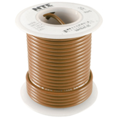 NTE Electronics WH610-01-1000 HOOK UP WIRE 600V STRANDED 10 GAUGE BROWN 1000'