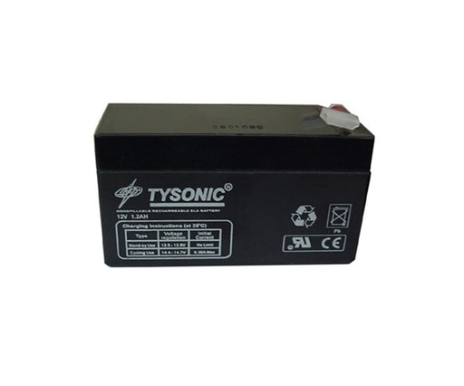 Tysonic TY-12-1.2 12V 1.2AH Sealed Lead Acid Battery