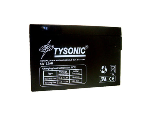 Tysonic TY-12-2SLM 12V 2.0AH Sealed Lead Acid Battery