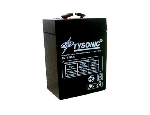 Tysonic TY-6-4.5 6V 4.5AH Sealed Lead Acid Battery