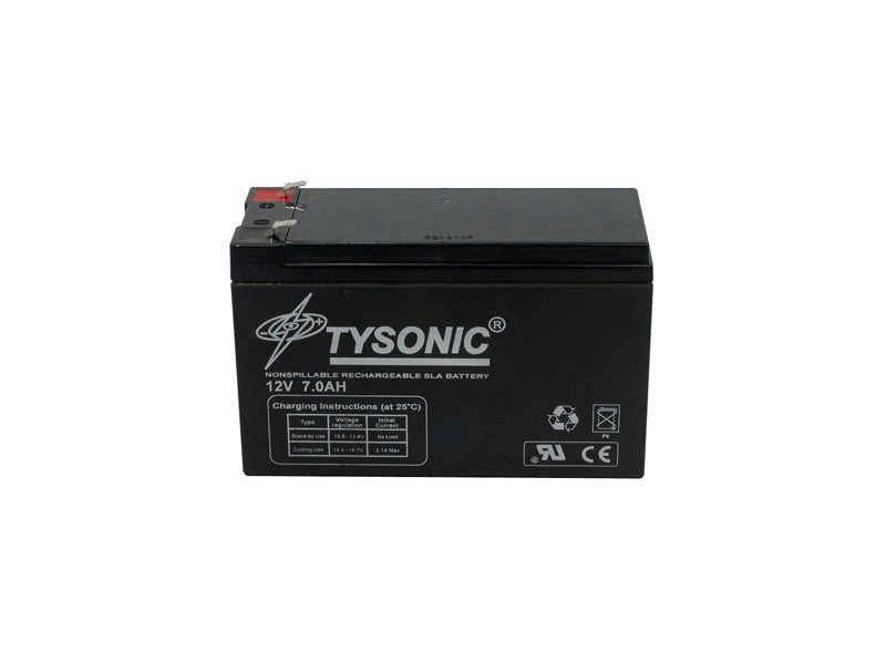 Tysonic TY-12-7.5 Non-Spillable Sealed Secondary 12V 7.5Ah 2-Pin Battery