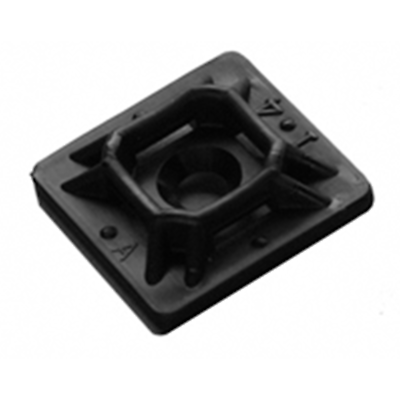 "NTE Electronics 04-MPA10000 MOUNT PAD 1"" SQUARE ACRYLIC BLACK #6 SCREW 100/BAG"
