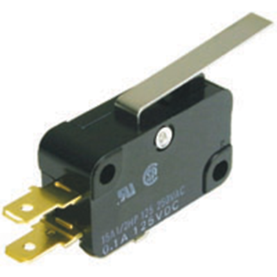 NTE Electronics 54-414 SWITCH SNAP ACTION SPDT 10A HINGE LEVER 60GM FORCE