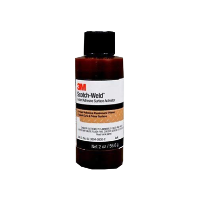 3M™ Scotch-Weld™ Instant Adhesive Surface Activator, Light Amber, 2 fl oz Bottle