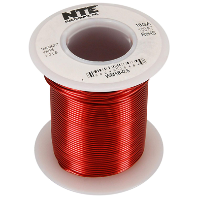NTE Electronics WM18-0.5 WIRE-MAGNET 18 AWG 1/2 POUND 100'