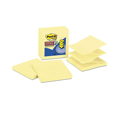 Post-it Super Sticky Pop-up Notes, R440-YWSS, 4 in x 4 in (101 mm x 101 mm)