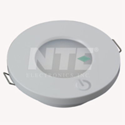 NTE Electronics 69-LL-05 LED LIGHT ROUND INT 12/24VDC 14 WHITE LEDS SWITCH