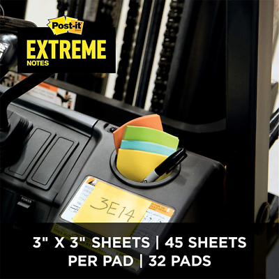 Post-it Extreme Notes, EXTRM33-32CBNT, 3 in x 3 in (76 mm x 76 mm)