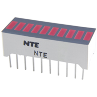 NTE Electronics NTE3115 LED-10-segment Red Bar Graph Display W/separate Anode