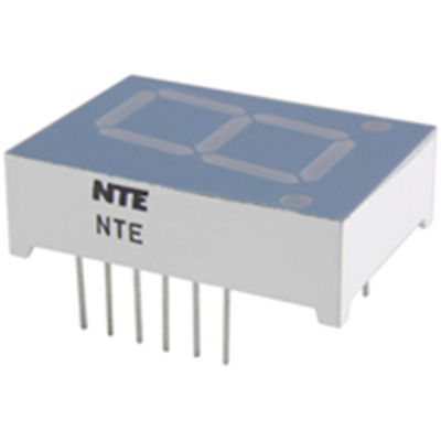 NTE Electronics NTE3080 LED-display Red 0.800 Inch Seven Segment Common Anode