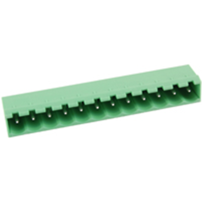 NTE Electronics 25-E1300-12 Terminal Block 12 Pole 5.08mm Pitch 300V 15A PC Moun