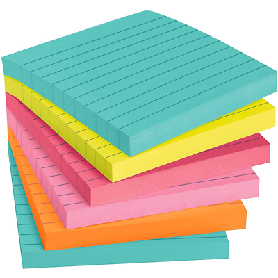 Post-it Super Sticky Notes 675-6SSMIA, 4 in x 4 in (101 mm x 101 mm)