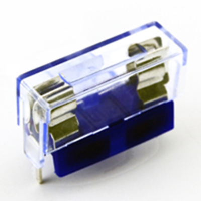 NTE Electronics 74-FB5-B FUSE BLOCK-W/CLEAR COVER 5X20MM FUSE 2/PKG BLISTER