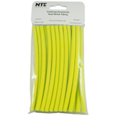 NTE Electronics 47-20506-Y Heat Shrink 1/4 In Dia Thin Wall Yellow 6 In Length