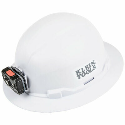Klein Tools 60406RL Hard Hat, Non-vented, Full Brim with Rechargeable Headlamp