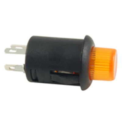 NTE Electronics 54-704-A SWITCH PUSH BUTTON SPST 3A 125VAC AMBER 6A 14VDC