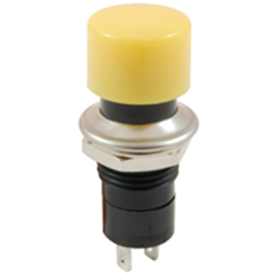 NTE Electronics  54-557 SWITCH PUSHBUTTON SPST 3A 125VAC YELLOW ACTUATOR