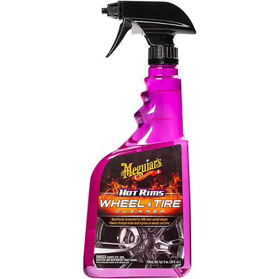 Meguiar's Hot Rims Wheel & Tire Cleaner, G9524, 24 oz., Spray