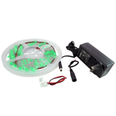 NTE Electronics 69-36G-WR-KIT LED STRIP KIT GREEN 16.4FT IP65 300 (3528) LEDS