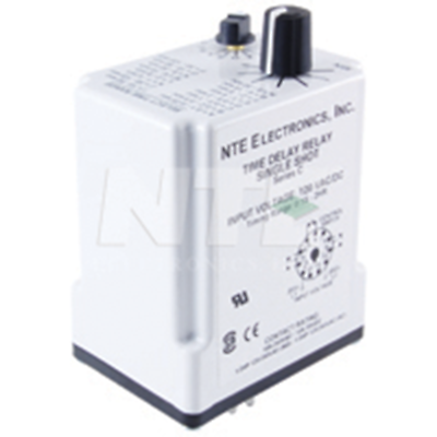 NTE Electronics R62-11AD10-24 RELAY-DPDT TIME DELAY 10A 24AC/DC 11-PIN
