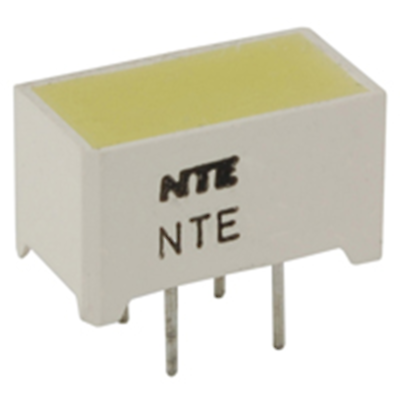 NTE Electronics NTE3182 LED Yellow 12.7mm X 6.35mm Rectangular