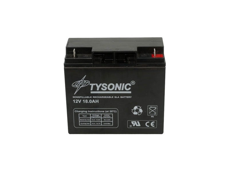 Tysonic TY-12-18 12V 18AH Sealed Lead Acid Battery