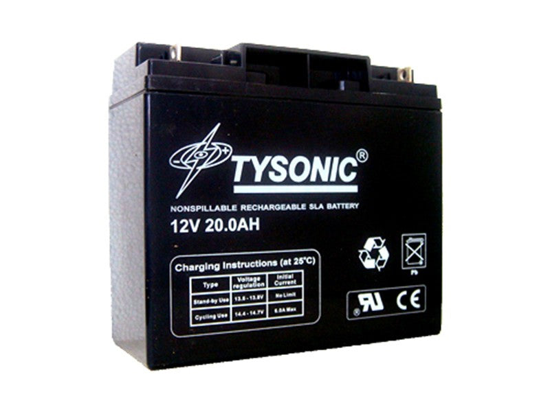 Tysonic TY-12-20 12V 20AH Sealed Lead Acid Battery