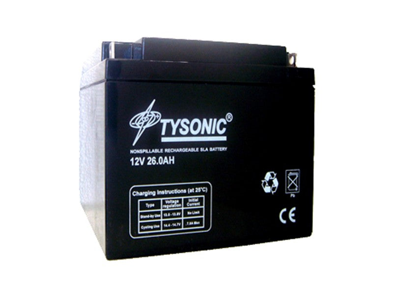 Tysonic TY-12-28 12V 28AH Sealed Lead Acid Battery