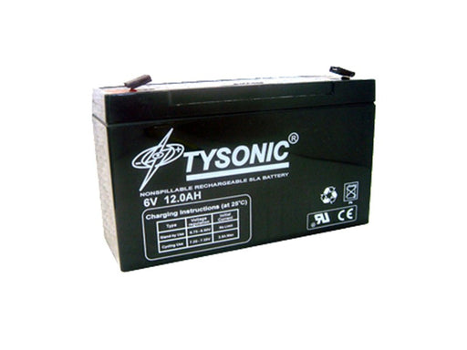 Tysonic TY-6-12 6V 12AH Sealed Lead Acid Battery