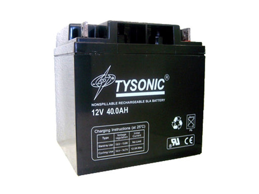 Tysonic TY-12-40 12V 40AH Sealed Lead Acid Battery