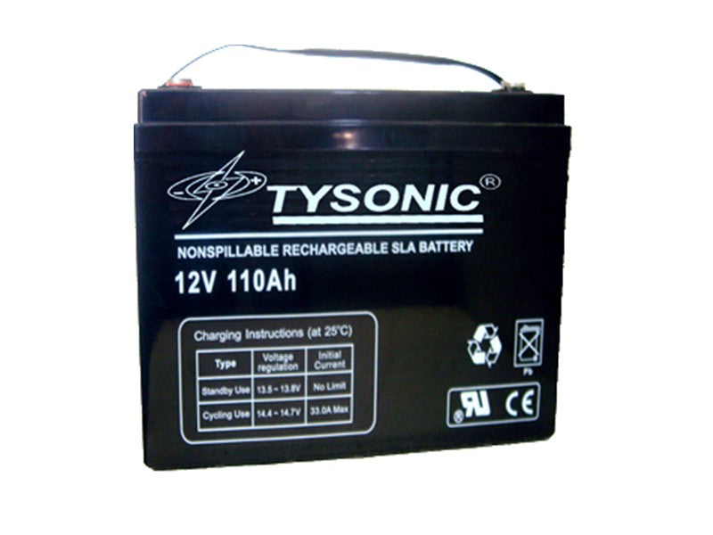 Tysonic TY-12-110 12V 110AH Sealed Lead Acid Battery