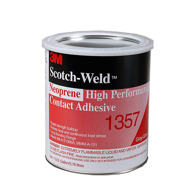 3M™ Neoprene High Performance Contact Adhesive 1357 Gray-Green, 1 Gallon