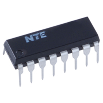 NTE Electronics NTE4076B IC CMOS 4-bit D Type Register High Voltage Type 16-lead