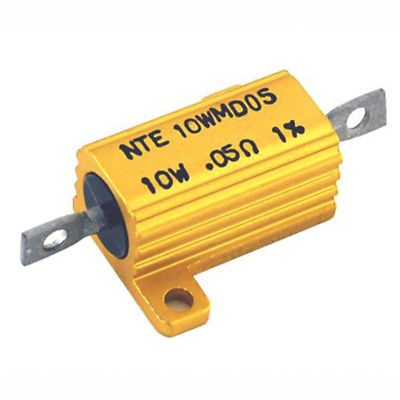 NTE Electronics 10WM120 RESISTOR 10 WATT ALUMINUM HOUSED POWER WIREWOUND 200 OHM