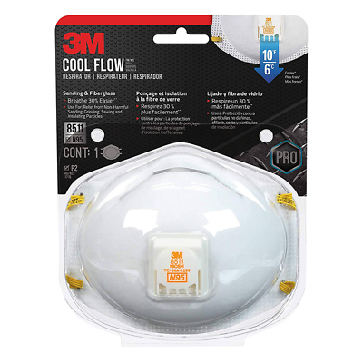 3M™ Sanding and Fiberglass Valved Respirator 8511HA1-C-PS