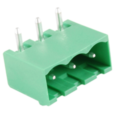 NTE Electronics 25-E1400-03 Terminal Block 3 Pole 5.08mm Pitch 300V 15A PC Mount