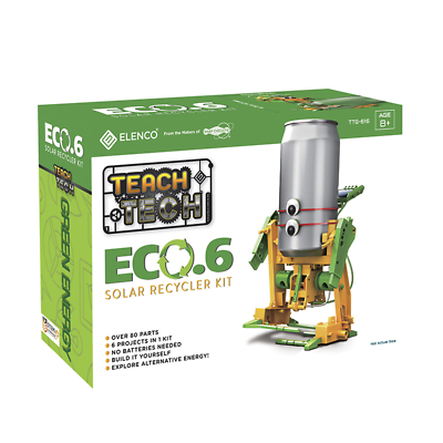 Elenco TTG-616 Teach Tech Eco-Powered 6-in-1 Solar Recycler Robot Kit