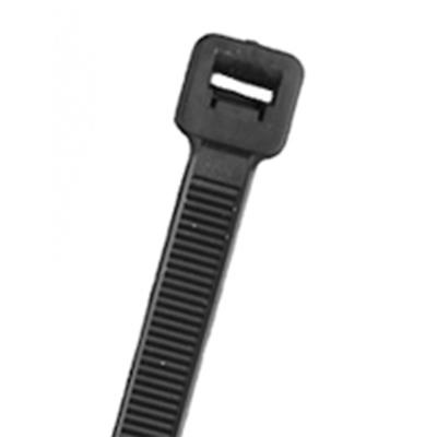 "NTE Electronics 04-CW07-50 CABLE TIE COLD WEATHER 7.56"" 50LB BLACK 100/BAG"